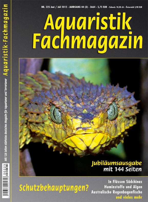 Aquaristik Fachmagazin 225 Juni/Juli 2012