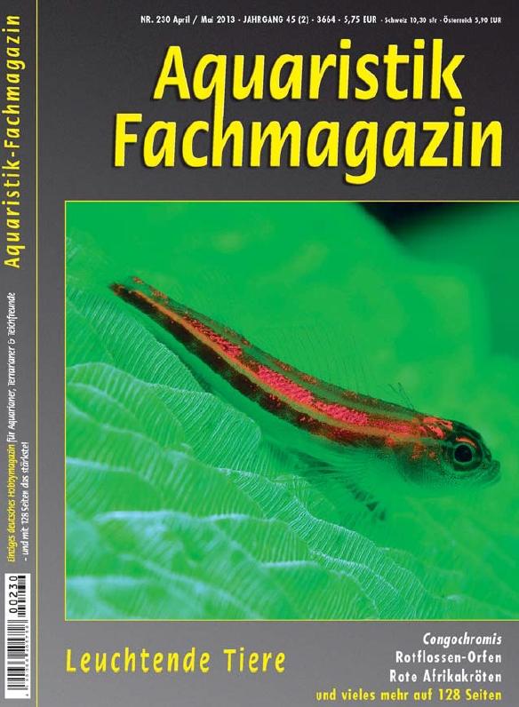 Aquaristik Fachmagazin 230 April/Mai 2013