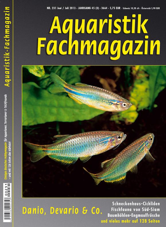 Aquaristik Fachmagazin 231 Juni/Juli 2013