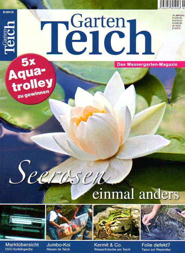 Gartenteich aktuell 3 2013 for Gartenteich muscheln