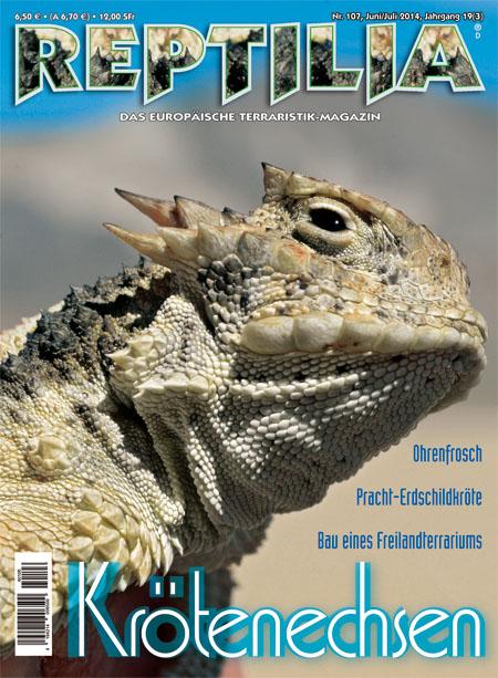 Reptilia 107 – Krötenechsen Junil / Juli 2014