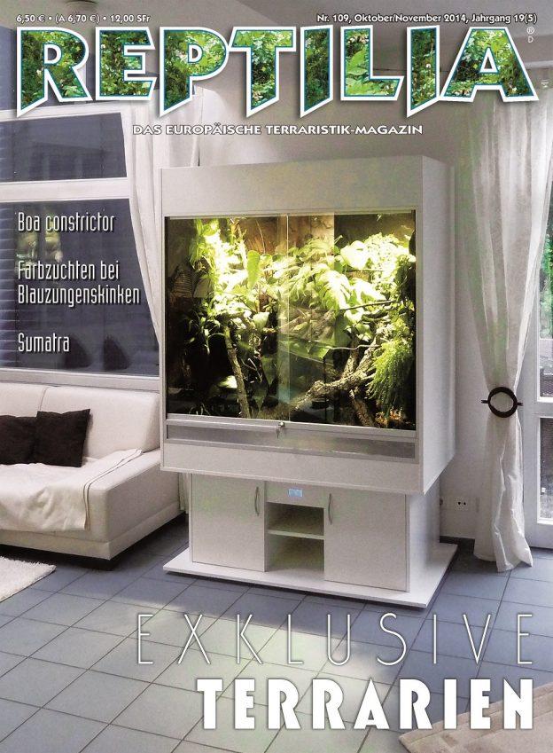 Reptilia 109 – Exklusive Terrarien Oktober / November 2014