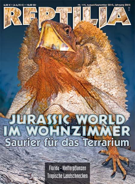 Reptilia 114 – Jurassic World im Wohnzimmer August/September 2015