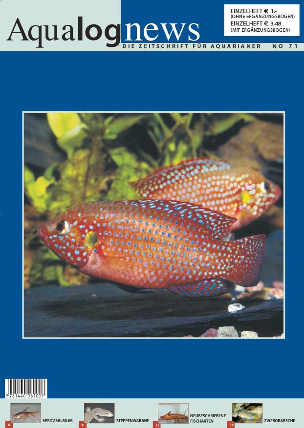 Aqualog news no 71 for Fischarten teich